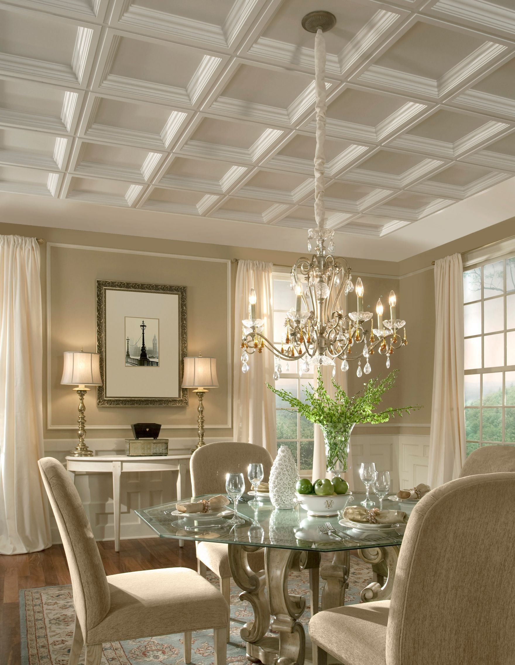5 tips to consider when using multiple colors when for Coffered ceiling styles