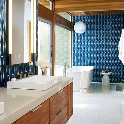 Funky and functional modern bathroom updates that are as for Mid century modern master bathroom