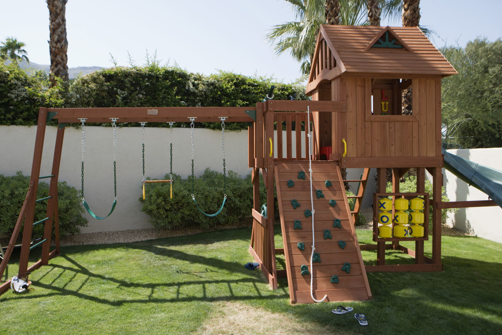 Playhouse for children in lawn
